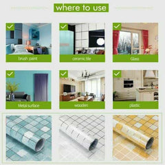 Removable Lattice Oil-proof Wall Heat-resistant Sticker, [variant_title], [option1], [option2], [option3] - anythinganyware