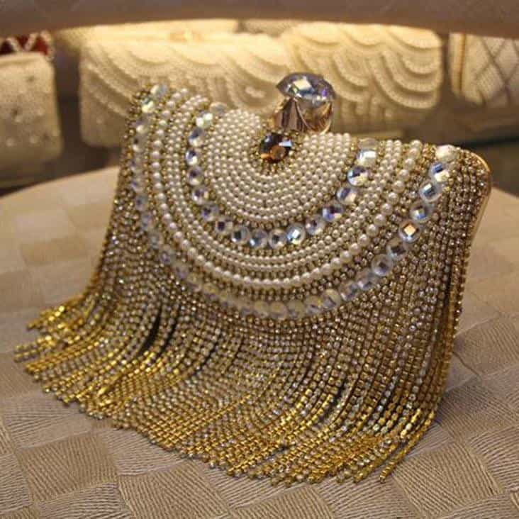 Rhinestones Tassel Clutch Diamonds Beaded Metal Evening Bags, [variant_title], [option1], [option2], [option3] - anythinganyware
