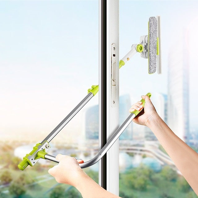 Window Squeegee Microfiber Extendable Window Scrubber Washer, DR-XS92 / China, DR-XS92, China, [option3] - anythinganyware