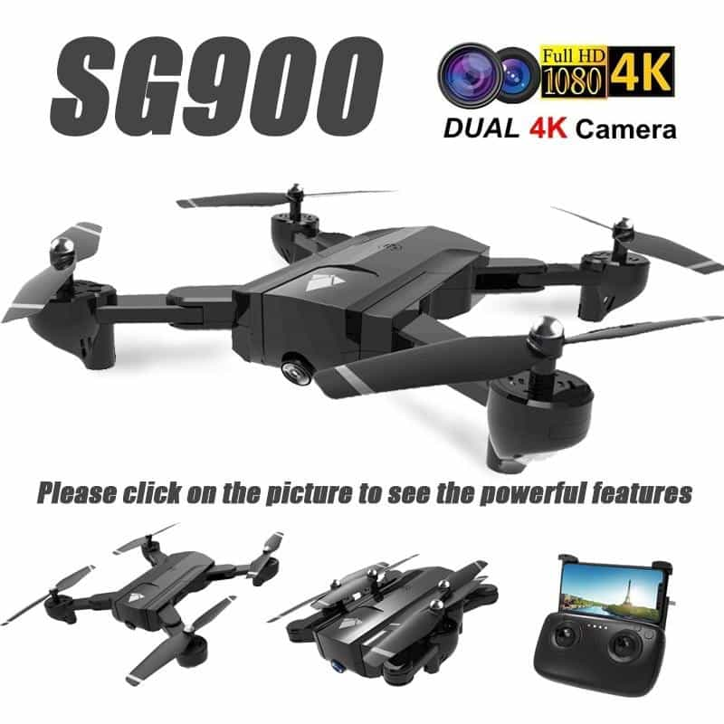 SG900 Wifi RC Drone with 720P 4K HD Dual Camera, [variant_title], [option1], [option2], [option3] - anythinganyware