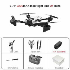 SG900 Wifi RC Drone with 720P 4K HD Dual Camera, SG900-720P-White-L, SG900-720P-White-L, [option2], [option3] - anythinganyware
