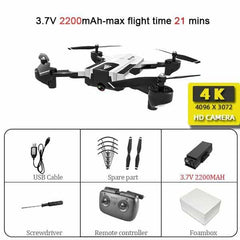 SG900 Wifi RC Drone with 720P 4K HD Dual Camera, SG900-4K-White-L, SG900-4K-White-L, [option2], [option3] - anythinganyware