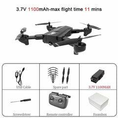 SG900 Wifi RC Drone with 720P 4K HD Dual Camera, SG900-720P-Black-S, SG900-720P-Black-S, [option2], [option3] - anythinganyware