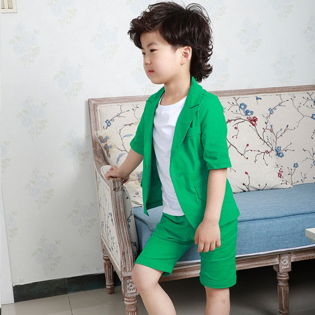 School Kids Birthday Dress Formal Suits For Boys, vest short 2pcs A / 10T, vest short 2pcs A, 10T, [option3] - anythinganyware