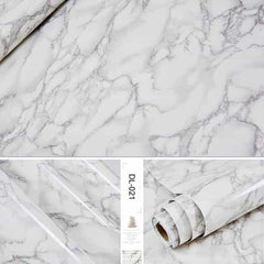 Self adhesive Marble Vinyl Wallpaper Roll Furniture Decorative Film r, DL-021 / 60cmX3m, DL-021, 60cmX3m, [option3] - anythinganyware