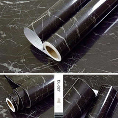 Self adhesive Marble Vinyl Wallpaper Roll Furniture Decorative Film r, DL-027 / 40cmX1m, DL-027, 40cmX1m, [option3] - anythinganyware