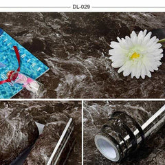 Self adhesive Marble Vinyl Wallpaper Roll Furniture Decorative Film r, DL-029 / 60cmX3m, DL-029, 60cmX3m, [option3] - anythinganyware