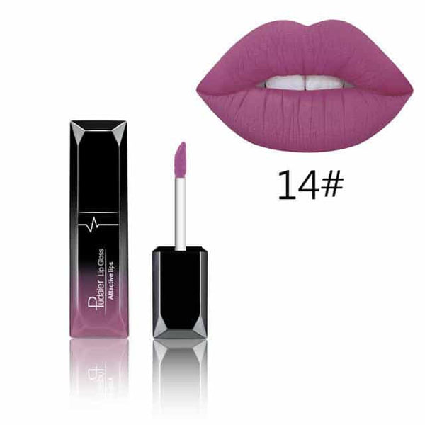 Sexy Matte Lip Gloss Lip Liner Pencil Professional Lipstick, 014, 014, [option2], [option3] - anythinganyware