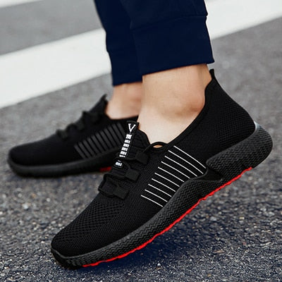Spring Men Sneakers Breathable Men Casual Shoes, Black White / 6.5, Black White, 6.5, [option3] - anythinganyware