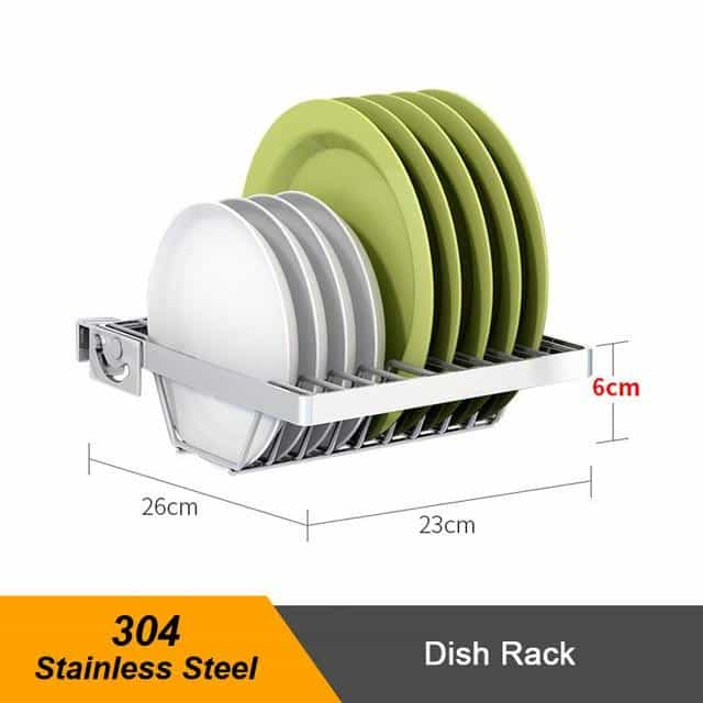 Stainless Steel Sink Drain Rack Kitchen, SUS304 component 7, SUS304 component 7, [option2], [option3] - anythinganyware
