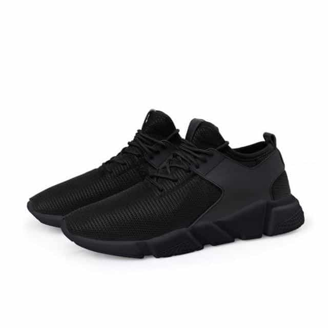 Stylish Breathable Mesh Casual Running Shoes for Men, Black / 43, Black, 43, [option3] - anythinganyware