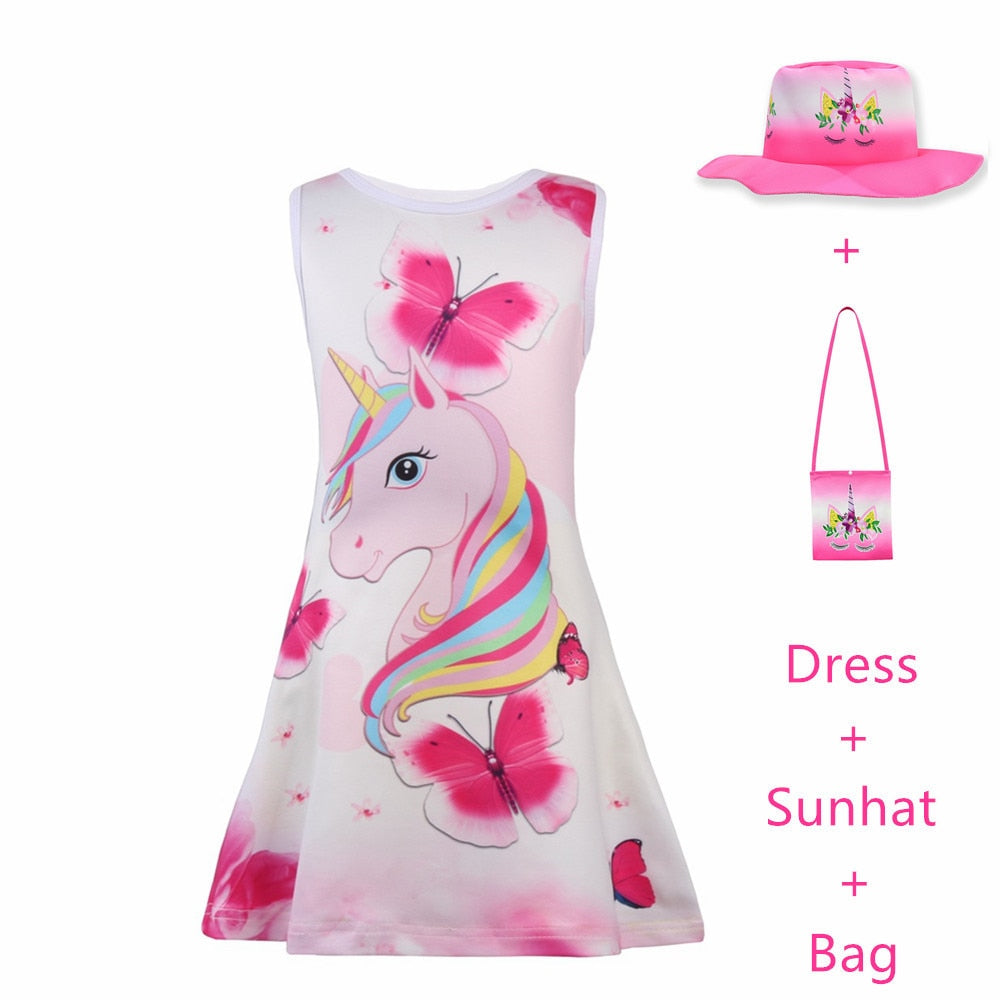 Summer Butterfly Girls Unicorn Dress, [variant_title], [option1], [option2], [option3] - anythinganyware