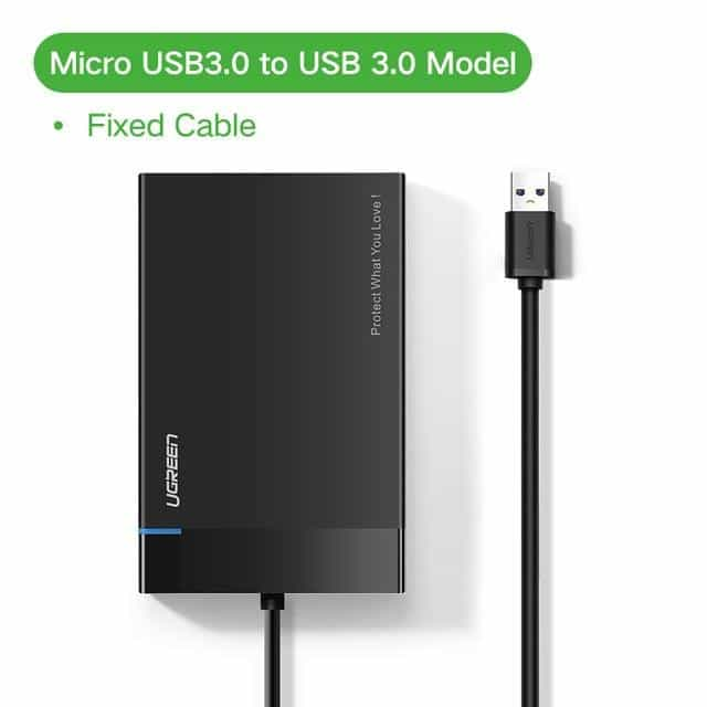 Ugreen HDD Case 2.5 SATA to USB 3.0 Adapter Hard Drive, China / USB 3.0-Fixed Cable, China, USB 3.0-Fixed Cable, [option3] - anythinganyware