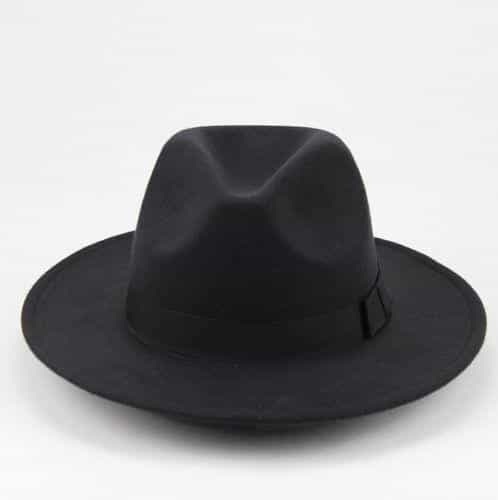 Thick Wool Vintage Hat, Black, Black, [option2], [option3] - anythinganyware