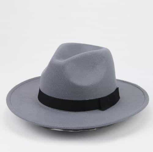 Thick Wool Vintage Hat, Gray, Gray, [option2], [option3] - anythinganyware