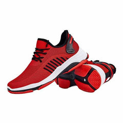 WENYUJH Summer Black Men Vulcanize Shoes, Red C / 40, Red C, 40, [option3] - anythinganyware