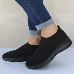 Shoes Knitting Sock Sneakers, Black / 9.5, Black, 9.5, [option3] - anythinganyware