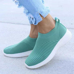 Shoes Knitting Sock Sneakers, Green / 7.5, Green, 7.5, [option3] - anythinganyware