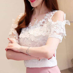 2019 Summer New  Blouses Shirts, White / S, White, S, [option3] - anythinganyware