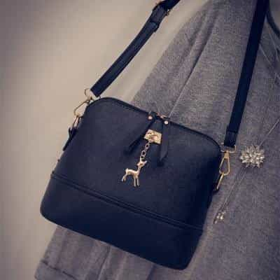 New Women Shoulder Bags Shell Shape, black / 23cm x19cm x10cm, black, 23cm x19cm x10cm, [option3] - anythinganyware