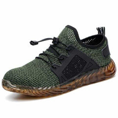 Shoe Lace Safety Shoes Men Sneakers Casual Shoes, Green / 9, Green, 9, [option3] - anythinganyware