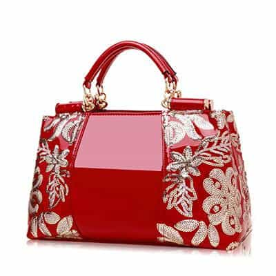 Women Embroidery Handbag Female Shoulder Bags, Red, Red, [option2], [option3] - anythinganyware