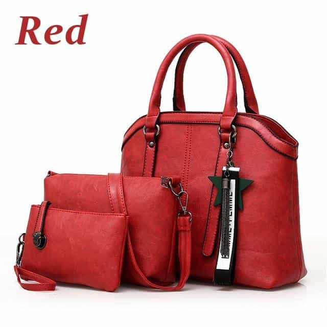 Handbags Women Hand Bag 3 Sets, Red / About 30cm 12cm 26cm, Red, About 30cm 12cm 26cm, [option3] - anythinganyware