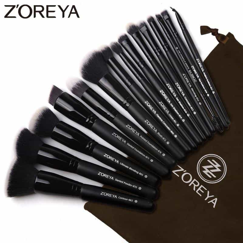 15pcs Black Makeup Brushes Set, [variant_title], [option1], [option2], [option3] - anythinganyware