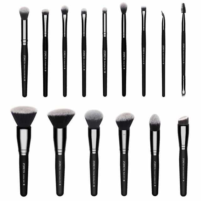 15pcs Black Makeup Brushes Set, black, black, [option2], [option3] - anythinganyware