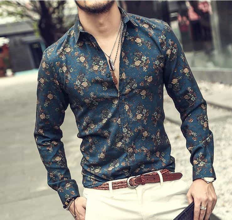 new fashion flower printed long sleeve shirts, [variant_title], [option1], [option2], [option3] - anythinganyware