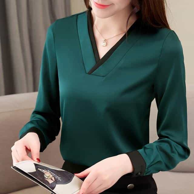 spring long sleeve women shirts, Green / XXXL, Green, XXXL, [option3] - anythinganyware