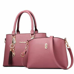 women bag Fashion Casual Contain two packages, Pink, Pink, [option2], [option3] - anythinganyware