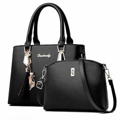women bag Fashion Casual Contain two packages, Black, Black, [option2], [option3] - anythinganyware