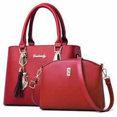 women bag Fashion Casual Contain two packages, Burgundy, Burgundy, [option2], [option3] - anythinganyware