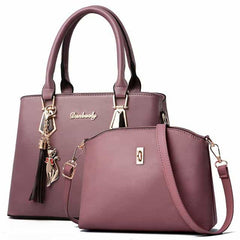 women bag Fashion Casual Contain two packages, Light purple, Light purple, [option2], [option3] - anythinganyware