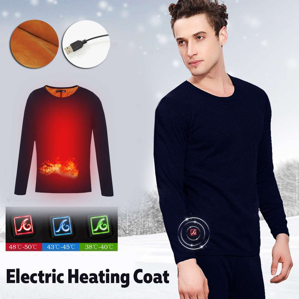 Men's Thermal USB Heated Underwear Electric Heated Clothing