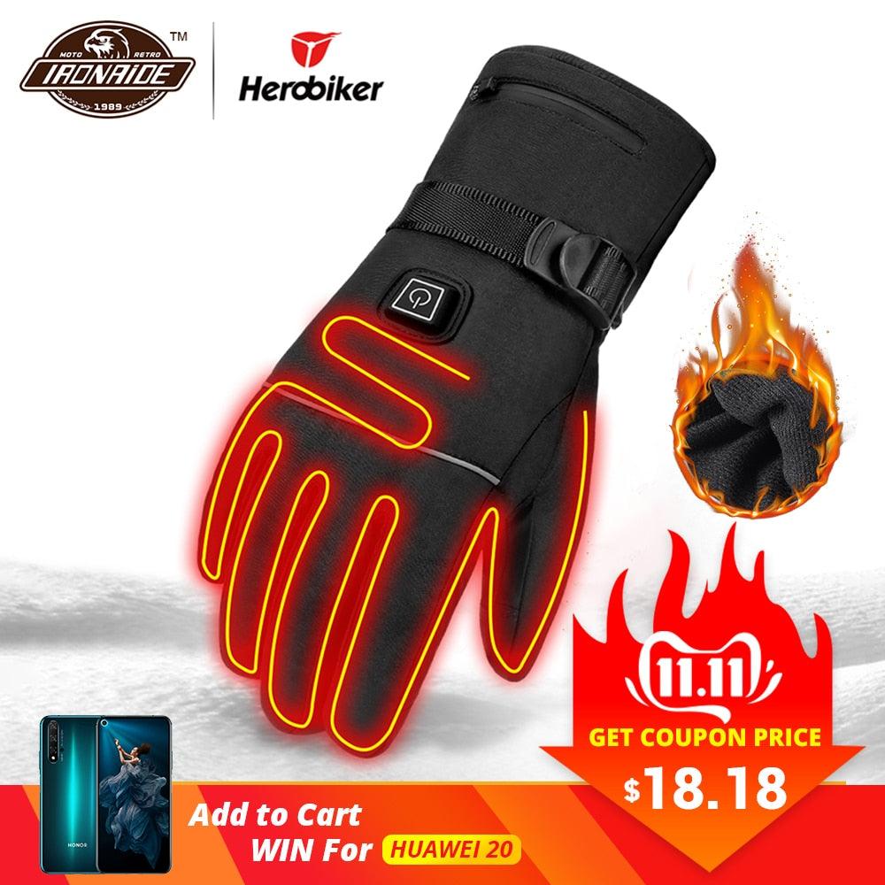 Motorcycle Gloves Waterproof and Heated.