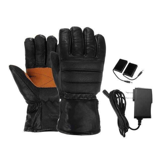 Leather Rechargeable Gloves,