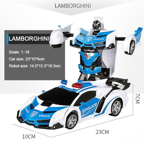 Remote Controlled Transforming Robot Car.