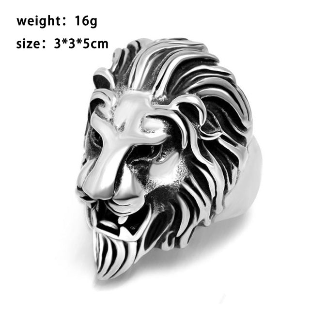 Premium Lion Head Finger Ring