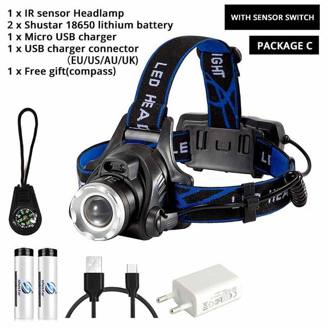 Waterproof LED Fishing Headlamp