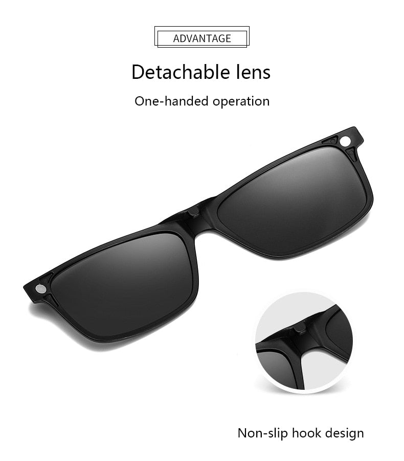 5-in-1 Magnetic Lens Swappable Sunglasses