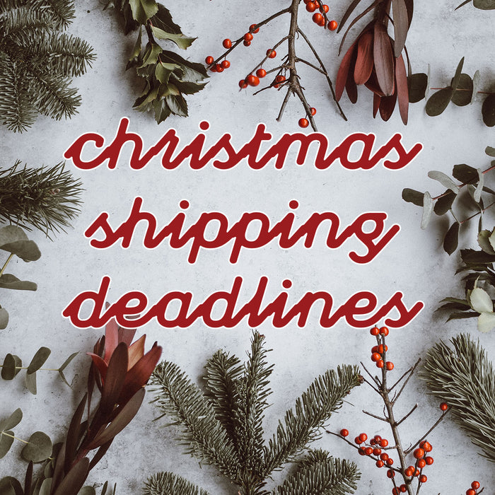 Christmas Shipping Deadlines 2019