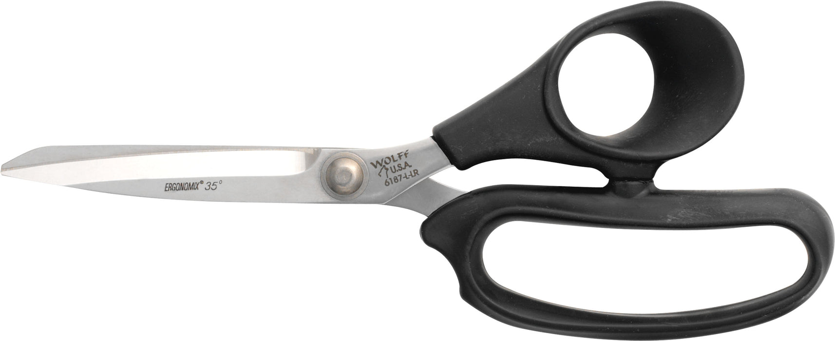 "Wolff® 6187-L-LR 9"" Ergonomix® Poultry Scissors - 6000 Series Stainless Steel Shears"