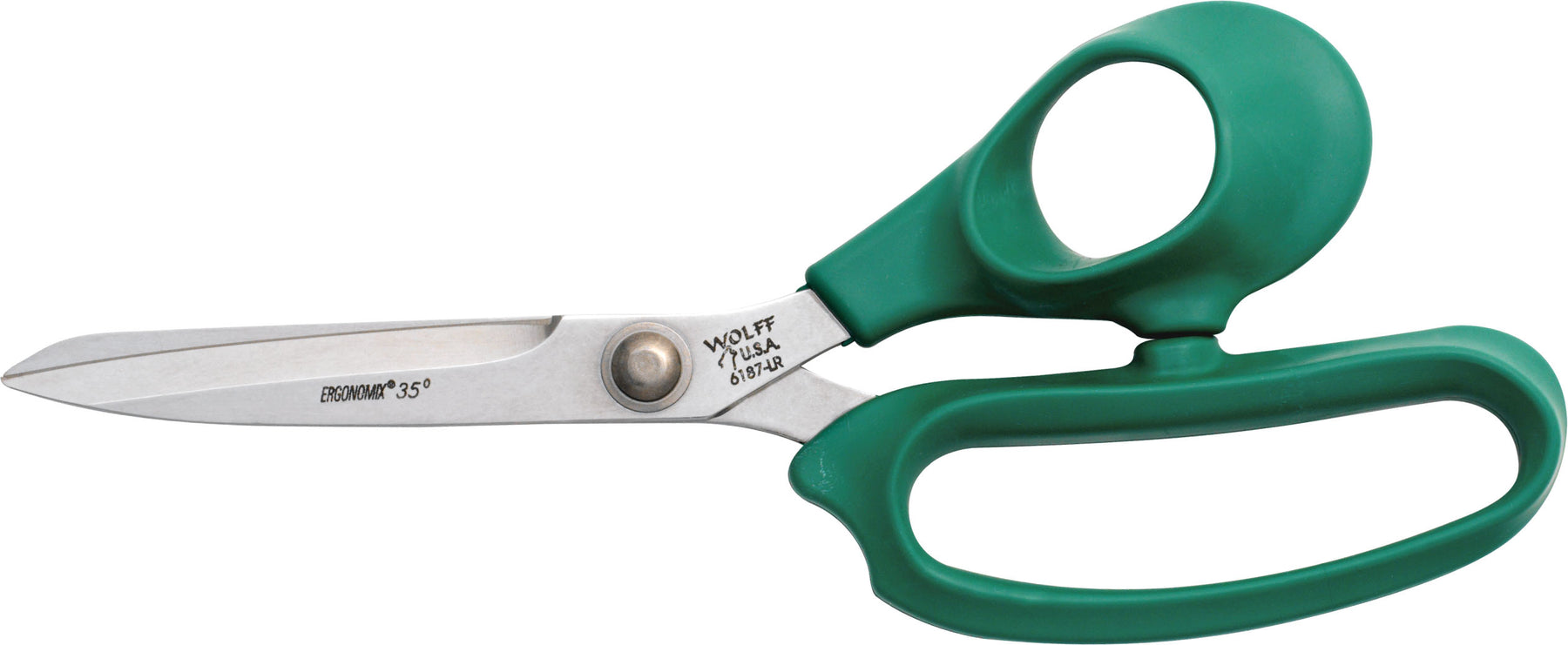 "Wolff® 6187-LR 9"" Ergonomix® Poultry Scissors - 6000 Series Stainless Steel Shears"