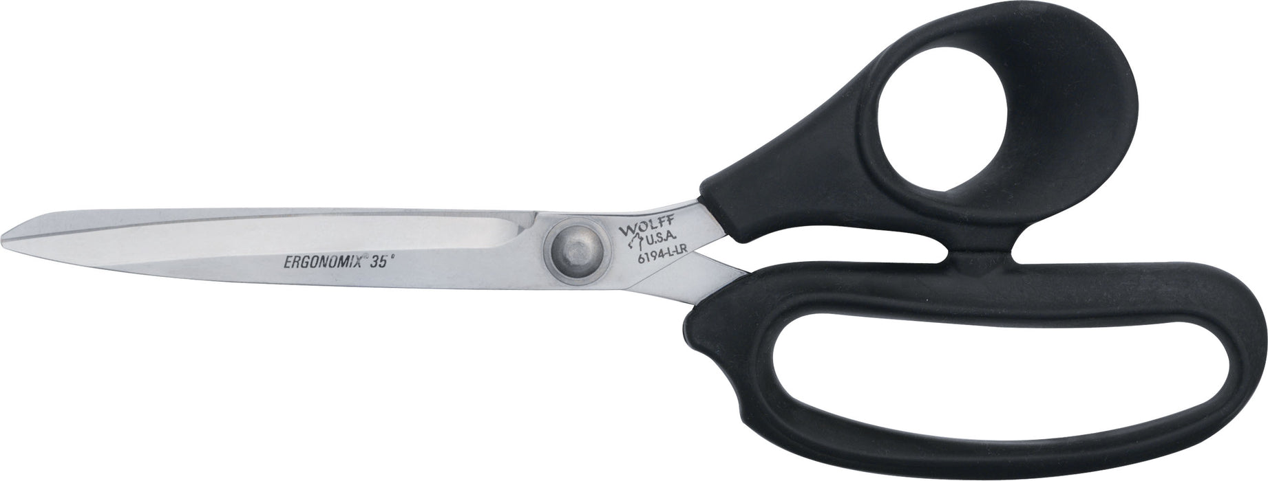 "Wolff® 6194-L-LR 9 5/8"" Ergonomix® Poultry Scissors - 6000 Series Stainless Steel Shears"