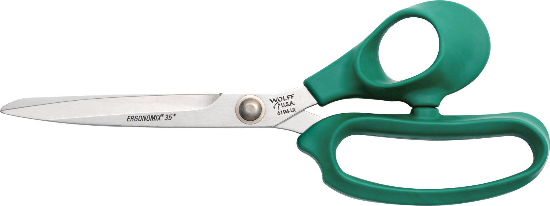 "Wolff® 6194-LR 9 5/8"" Egonomix® Poultry Scissors - 6000 Series Stainless Steel Shears"