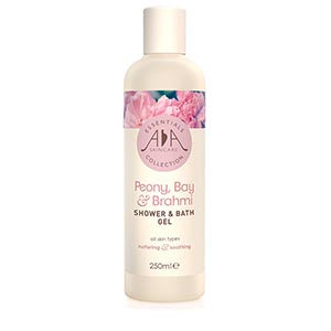 Peony, Bay & Brahmi Shower & bath Gel 250ml AA Skincare