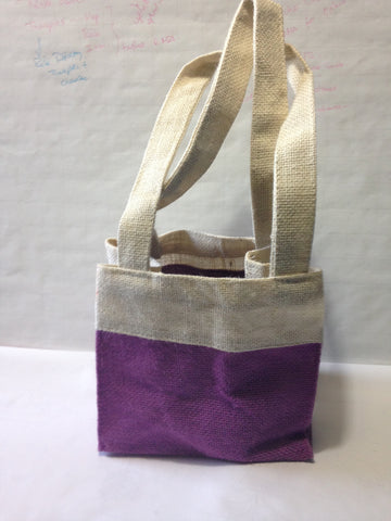 Jute Floral Gift Bag - Reusable