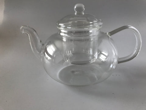 Clear Glass Teapot With Removable Glass  Infuser